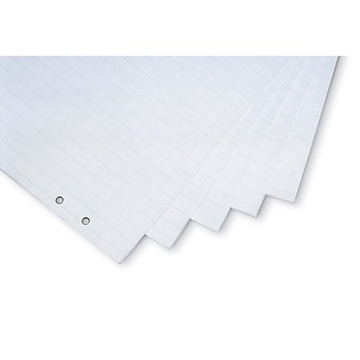 magnetoplan® Flipchart-Papier - kariert / blanko, VE 5 Blöcke à 20 Blatt - plan liegend, 650 x 930 mm