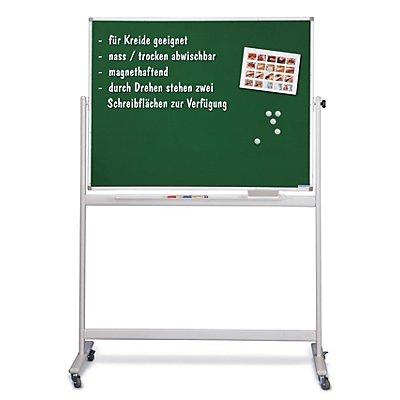 magnetoplan® mobile Kreidetafel - 360° drehbar - Tafel-BxH 2000 x 1000 mm