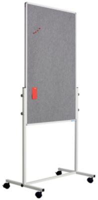 Flipchart Whiteboard Kombi - Weißwandtafel und Filztafel - Tafel-HxB 1200 x 750 mm