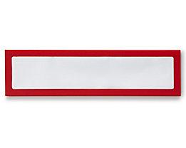 Infotasche, magnetisch - für Überschriften, Breite 225 mm - rot, VE 5 Stk