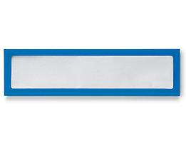 Infotasche, magnetisch - für Überschriften, Breite 225 mm - blau, VE 5 Stk