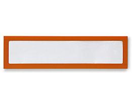 Infotasche, magnetisch - für Überschriften, Breite 225 mm - orange, VE 5 Stk