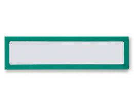 Infotasche, magnetisch - für Überschriften, Breite 225 mm - grün, VE 5 Stk