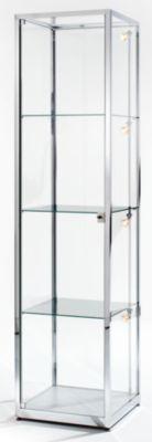 Säulenvitrine - Höhe 2000 mm, 1 Drehtür