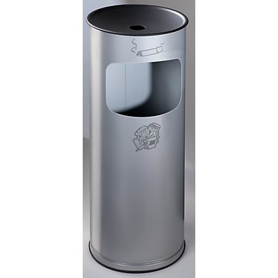 Sicherheits-Kombiascher, Stahlblech - Höhe 610 mm, Abfallvolumen 17 l
