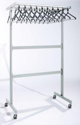 office akktiv Reihengarderobenständer doppelseitig - mit Kleiderbügeln