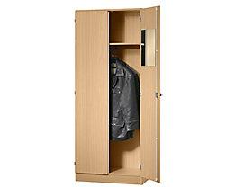 FINO Garderobenschrank - mit 1 Fachboden und 1 Kleiderstange - Buche-Dekor
