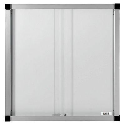 QUIPO Schaukasten, Schiebetüren - 12 (3 x 4) DIN-A4-Blätter