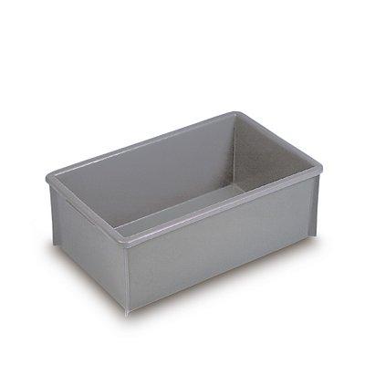 WERIT Stapelkasten aus Polyethylen, ohne Verstärkungsrippen - Inhalt 35 l