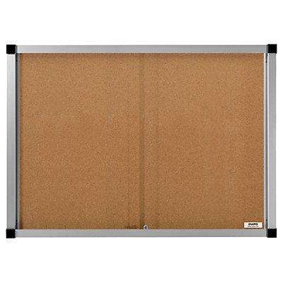 QUIPO Schaukasten, Schiebetüren - 18 (3 x 6) DIN-A4-Blätter