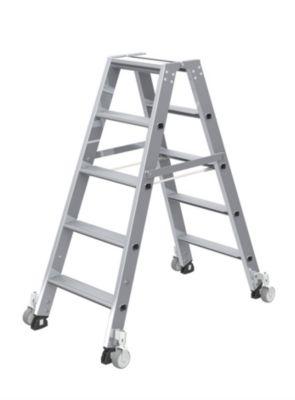 Stufen-Stehleiter, beidseitig - Ausführung mobil
