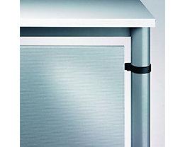 HAMMERBACHER VIOLA Schreibtisch-Rückwand - für Schreibtisch 800 mm - alusilber | VHR08/S
