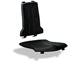 Polster für Sitz und Rückenlehne in ESD-Ausführung - Integralschaum - schwarz