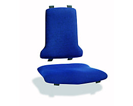 Polster - VE = je 1 Polster für Sitz und Rückenlehne - Textil-Polster, blau