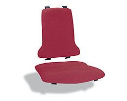 Polster - VE = je 1 Polster für Sitz und Rückenlehne - Textil-Polster, rot