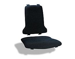 Polster für Sitz und Rückenlehne in ESD-Ausführung - Textil - schwarz