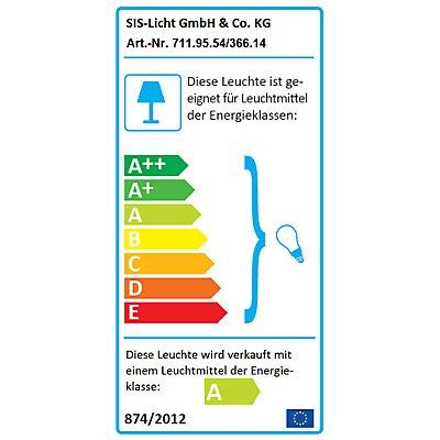 SIS Gelenkleuchte E27 - staub-, spritzwassergeschützt, IP54 - für 14-W-Energiesparlampe