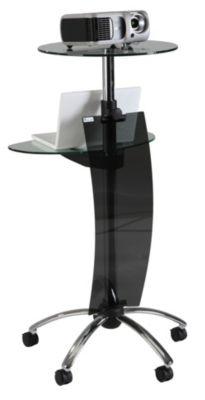 Beamerstativ SPOT - 2 Glasplatten - höhenverstellbar 1050 – 1450 mm