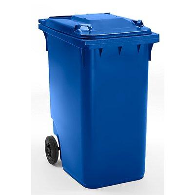 Conteneur à déchets en plastique conforme à la norme DIN EN 840 - capacité 360 l, h x l x p 1100 x 600 x 874 mm, Ø roues 200 mm