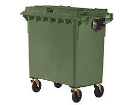 Kunststoff-Großmüllbehälter, nach DIN EN 840 - Volumen 770 l - grün, ab 5 Stk
