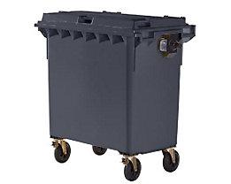 Kunststoff-Großmüllbehälter, nach DIN EN 840 - Volumen 770 l - anthrazit