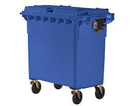 Kunststoff-Großmüllbehälter, nach DIN EN 840 - Volumen 770 l - blau