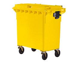 Kunststoff-Großmüllbehälter, nach DIN EN 840 - Volumen 770 l - gelb