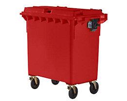 Kunststoff-Großmüllbehälter, nach DIN EN 840 - Volumen 770 l - rot, ab 5 Stk