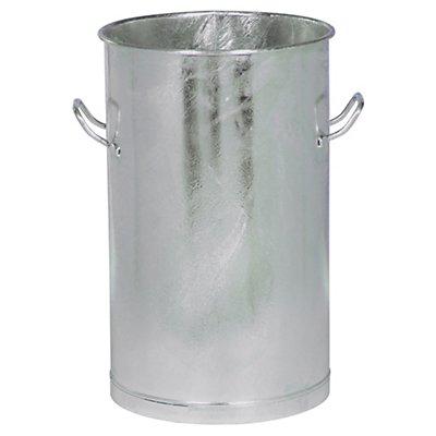 Stahlblechtonne - Volumen 100 l, Höhe x Außen-Ø oben 840 x 420 mm