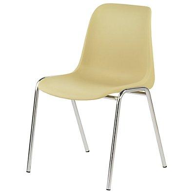 Kunststoffschalenstuhl - ohne Polster - Sitzschale beige/VE = 2 Stück
