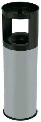 Abfallbehälter, flammverlöschend, mit Ascheraufsatz - Abfallvolumen 25 l, Höhe 800 mm