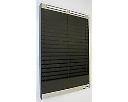 Tableau de tri - 2 x 18 casiers A5, position horizontale des documents - noir, mat