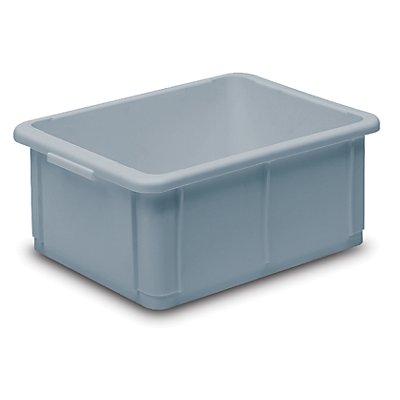 utz Stapelbehälter aus Polypropylen - Inhalt 10 l, Außenmaße LxBxH 400 x 300 x 125 mm - elfenbein