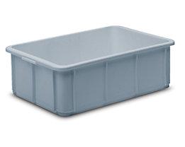 Stapelbehälter aus Polypropylen - Inhalt 20 l, Außenmaße LxBxH 600 x 400 x 125 mm - grau