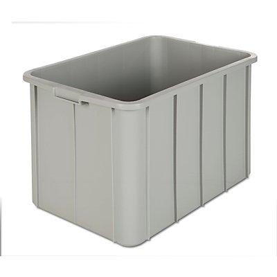 VECTURA Kunststoff-Stapelbehälter - Inhalt 96 l, Außenmaße LxBxH 668 x 452 x 412 mm