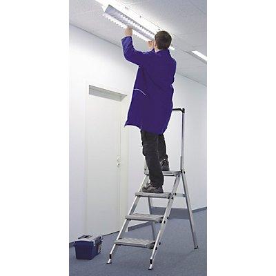 WAKÜ Alu-Klapptreppe - Stufen Aluminium geriffelt