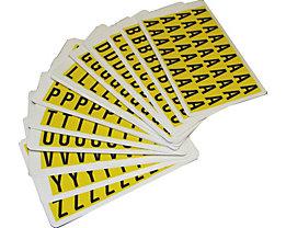 Schriftzeichenset - HxB 19 x 14 mm - Klebebuchstaben A – Z, 26 Karten