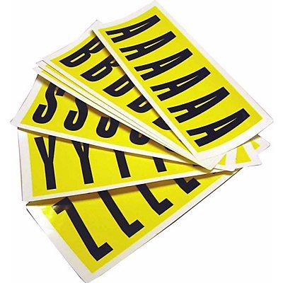 Schriftzeichenset - HxB 90 x 38 mm, 10 Karten
