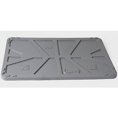 Capp Plast Deckel aus Polyethylen - für LxB 1040 x 640 mm - grau, ab 5 Stk