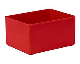 Einsatzkasten für Schublade - LxBxH 106 x 80 x 54 mm, VE 16 Stk - rot