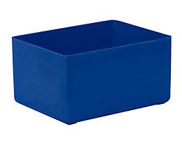 Einsatzkasten für Schublade - LxBxH 106 x 80 x 54 mm, VE 16 Stk - blau