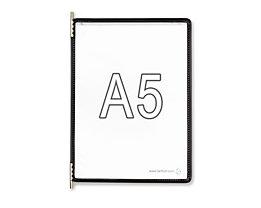 Tarifold Klarsichttafel - VE 10 Stk, für DIN A5, schwarz