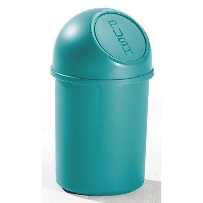 helit Push-Abfallbehälter mit 6 Liter Volumen aus Kunststoff - VE 6 Stk