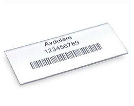 STEMO Etiketten - für Regalkasten, Höhe 30 mm - Breite 75 mm, VE 100 Stk