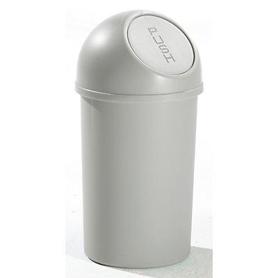 helit Push-Abfallbehälter, Höhe 490 mm - aus Kunststoff, Volumen 13 Liter, VE 6 Stk