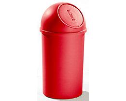 helit Push-Mülleimer aus Kunststoff - VE 3 Stück - rot