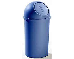helit Push-Mülleimer aus Kunststoff - VE 3 Stück - blau