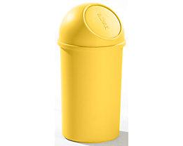 helit Push-Mülleimer aus Kunststoff - VE 3 Stück - gelb