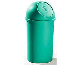 helit Push-Mülleimer aus Kunststoff - VE 3 Stück - grün