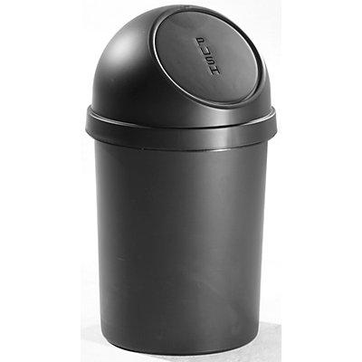 helit Push-Abfallbehälter mit VE 2 Stück - aus Kunststoff, Volumen 45 Liter, Höhe 700 mm